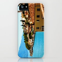 Limone Sul Garda Lake Garda Italy photo painting  iPhone Case