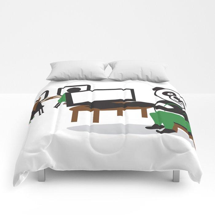 Panda Teacher Comforters