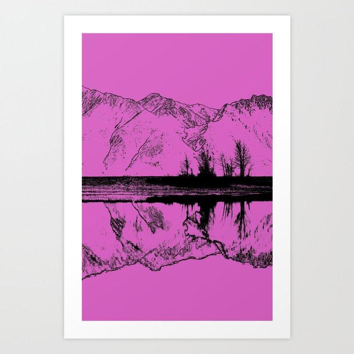 Knik River Mts. Pop Art - 5 Art Print