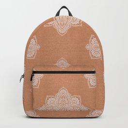 Modern boho terracotta floral mandala oriental pattern Backpack