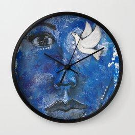 Come Thru Dove Wall Clock
