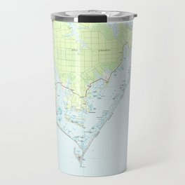 Cape Lookout National Seashore & Morehead City Map Travel Mug