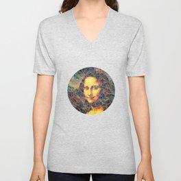 Mona Lisa Mosaic Unisex V-Neck
