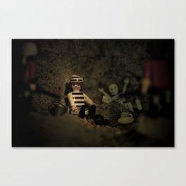I' m alone in the dark Canvas Print