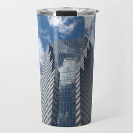 Building in blue Travel Mug