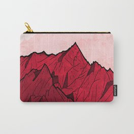 Red mountains under the great moon Carry-All Pouch