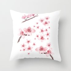 Sky blossoms Throw Pillow