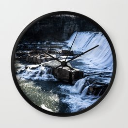 Upstate New York Waterfall Wall Clock