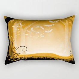 Dark Forest at Dawn in Amber Rectangular Pillow