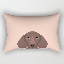 Remy - Daschund hipster dog, doxie, weiner dog, wiener dog,  Rectangular Pillow