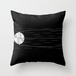 Sputnik Chalk Drawing Throw Pillow