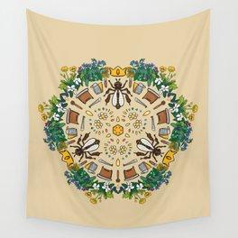 Beekeeping Mandala Wall Tapestry