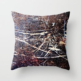 Scratched Rusty Metal Weathered Texture Abstract Throw Pillow