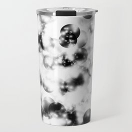 Black and White Pearls and Shine Travel Mug