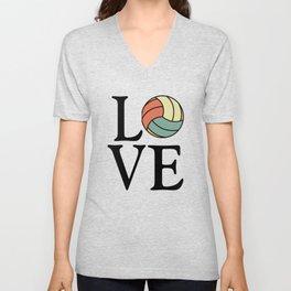 Volleyball Love - Vintage Sport Ball Design Unisex V-Neck