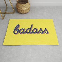Badass - yellow version Rug