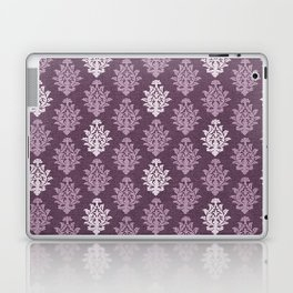 Trendy Stylish Shabby Chic Purple Floral Pattern Laptop & iPad Skin