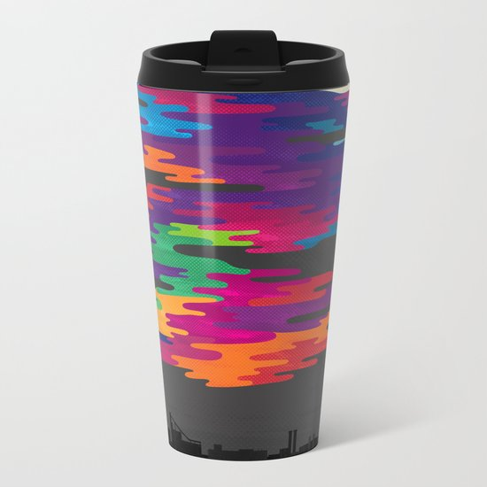 Hidden in the Smog (Night) Metal Travel Mug