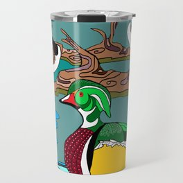 Wood Duck and Canadian Geese Travel Mug