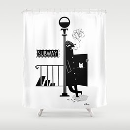 Bad Larry Shower Curtain