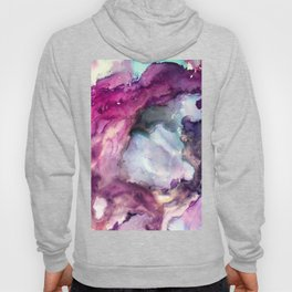 Purple Fusion - Mixed Media Painting Hoody