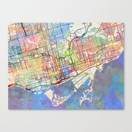 Map painting canvas prints society6 toronto street map canvas print gumiabroncs Choice Image