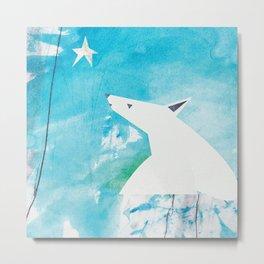 Polar Bear and Star (Hope) Metal Print