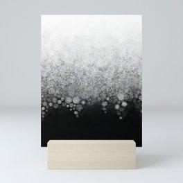 Snowfall on Black Mini Art Print
