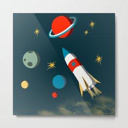 Space Adventure Metal Print