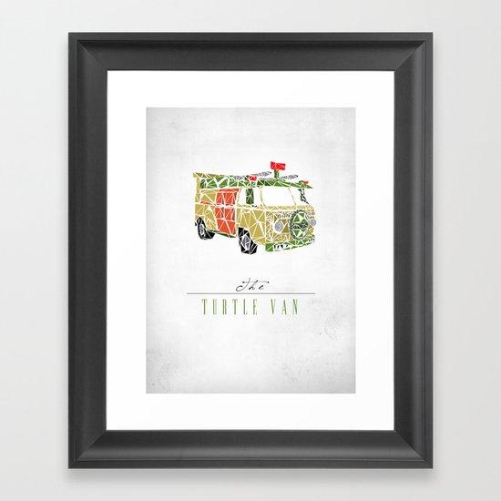 The Turtle Van Framed Art Print