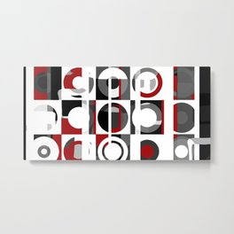 Modern art pattern Metal Print