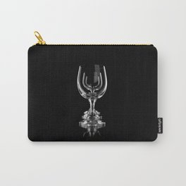 Three empty wine glasses on black Carry-All Pouch