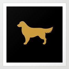 Golden Retriever (Black/Gold) Art Print