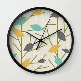 Mid Century Modern Birdsong Wall Clock