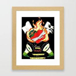Love like WAR Framed Art Print