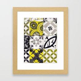 JD_tiled floor1–gouache Framed Art Print