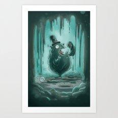 Goblins Drool, Fairies Rule - Gobble T. Goop Art Print