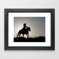 Cowgirl Adventure Framed Art Print