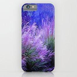 Purple long grass iPhone Case