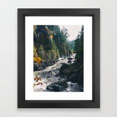 Autumn Rapids Framed Art Print