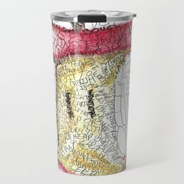 Robert Frost Poetry Art Travel Mug