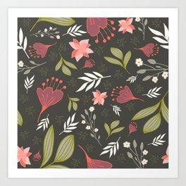 Spring Flowers Style B Art Print