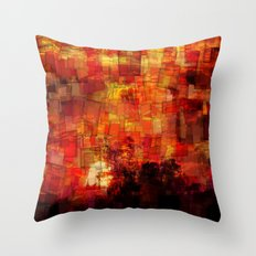 Sunrise in Africa Throw Pillow