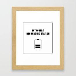 Introvert Recharging Framed Art Print