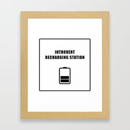 Introvert Recharging Framed Art Print
