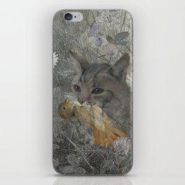 Cat work iPhone Skin