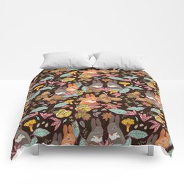 nuts and squirrels Comforters