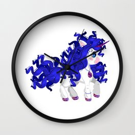 Unicorn pony Fashionista Wall Clock