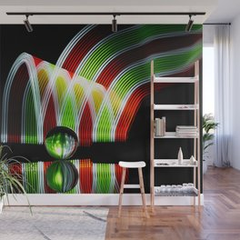 Crystal and Colors abstract painting wall decor Wall Mural