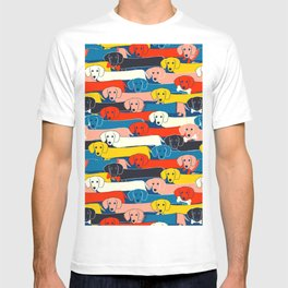 COLORED DOGS PATTERN 2 T-shirt